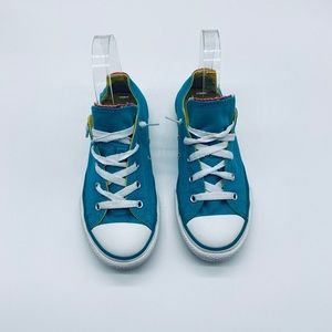 Converse Teal Turquoise Pink Youth 3 All Star